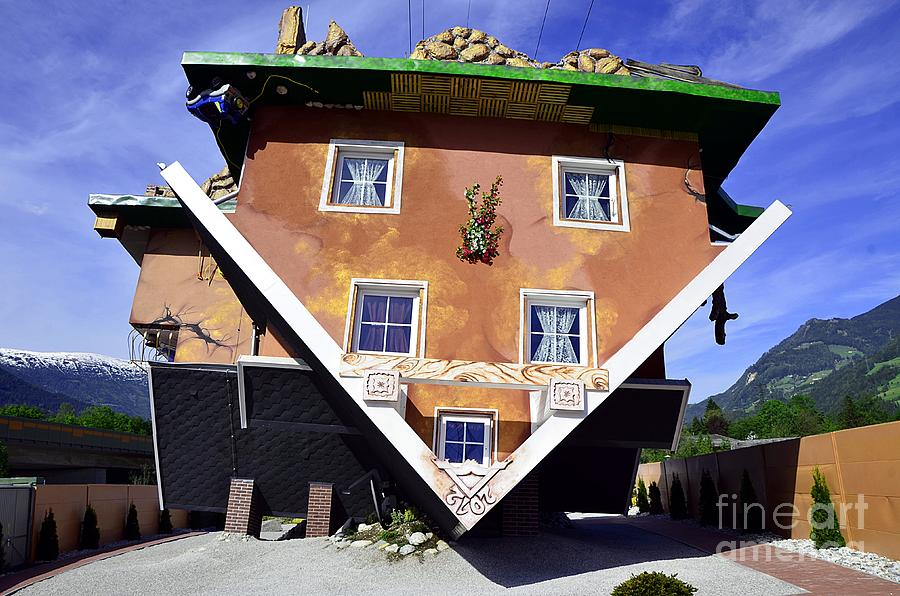 The house upside down photograph by elzbieta fazel The upside house