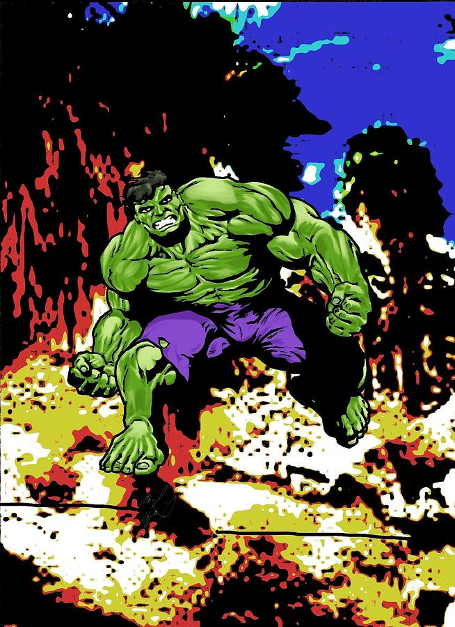 The Hulk Drawing  - The Hulk Fine Art Print