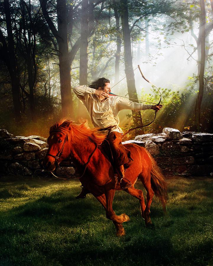 Hunter Digital Art - The Hunter by Mary Hood