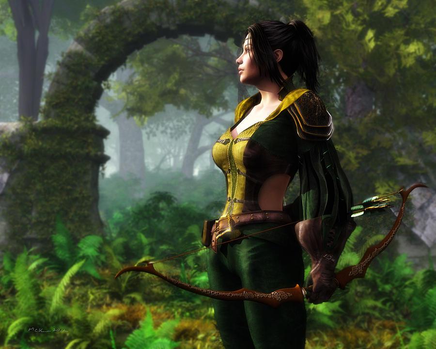 The Huntress Digital Art