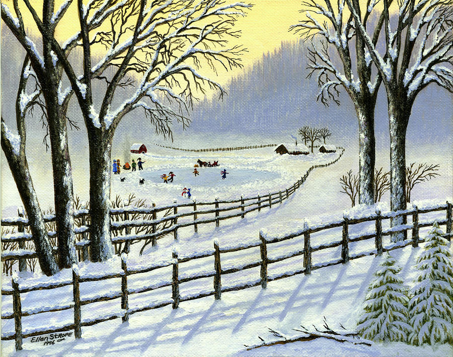 The Ice Skating Pond Painting