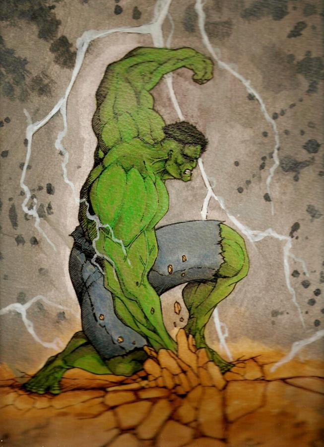The Incredible Hulk Mixed Media
