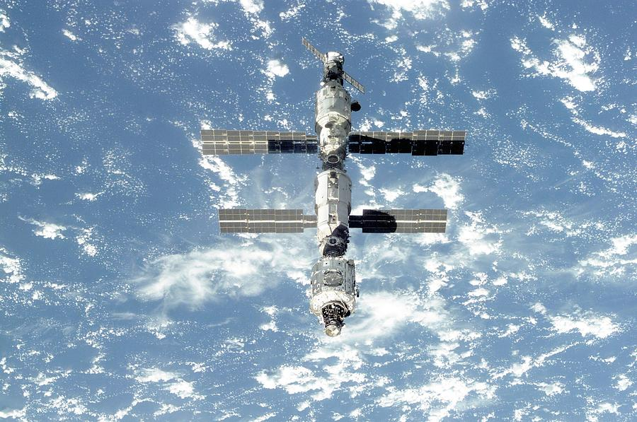 The International Space Station Is Seen Photograph