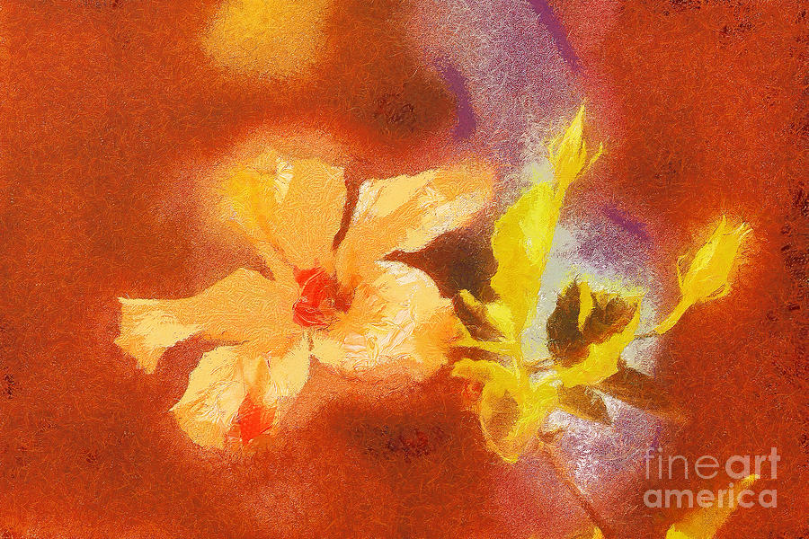 The Iris Flower Painting  - The Iris Flower Fine Art Print