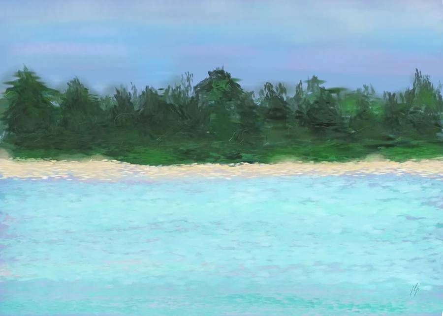 Landscape Painting - The Island by Janet Palaggi