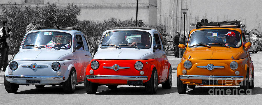 The Italian Small Car Photograph  - The Italian Small Car Fine Art Print