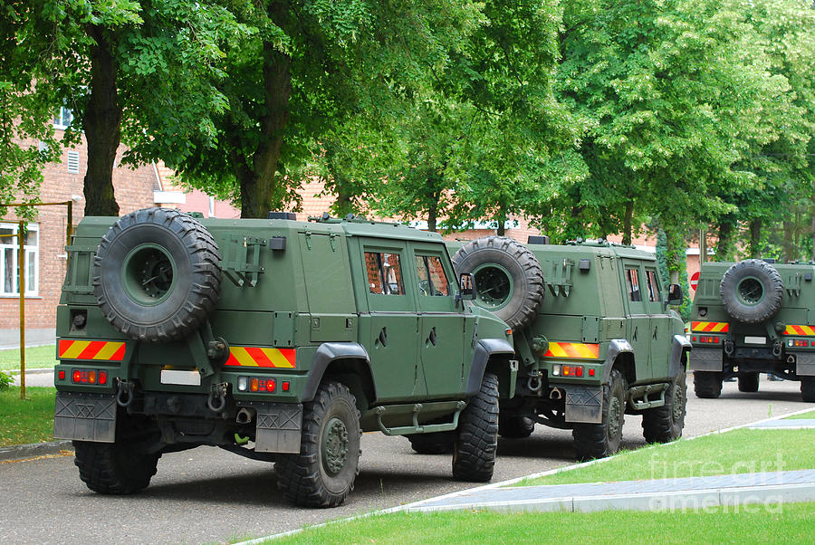 The Iveco Lmv Of The Belgian Army Photograph
