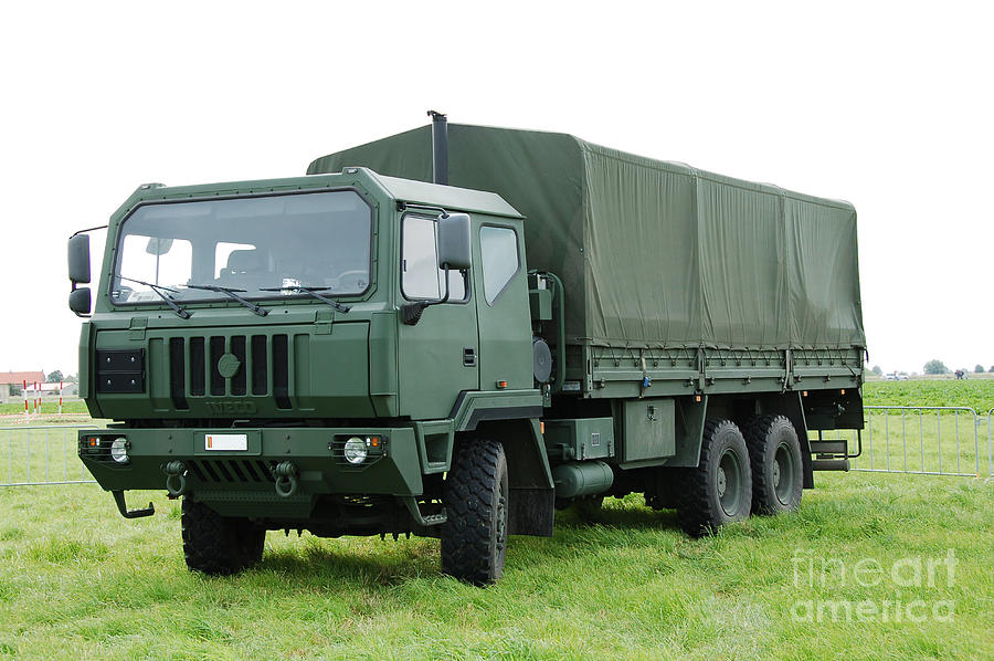 The Iveco M250 Used By The Belgian Army Photograph  - The Iveco M250 Used By The Belgian Army Fine Art Print
