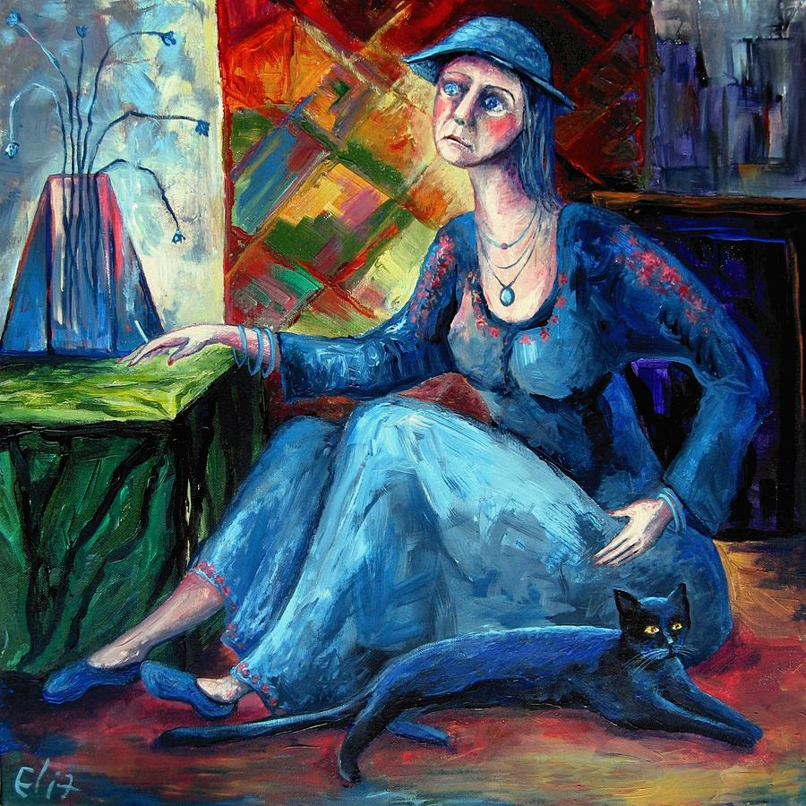 The Jeans Girl. 20 Years Later Painting  - The Jeans Girl. 20 Years Later Fine Art Print