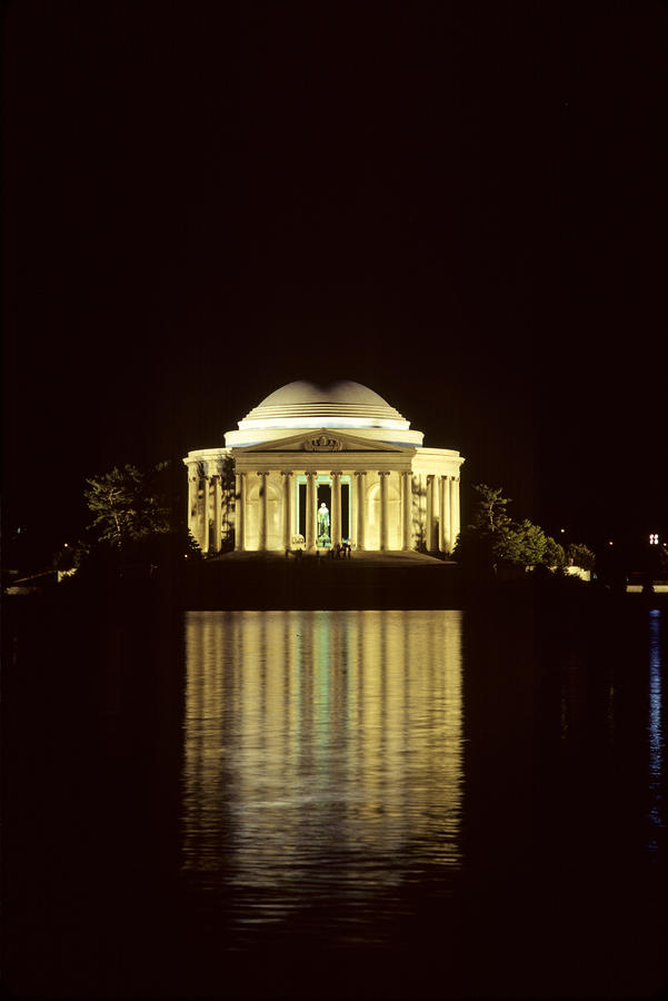 The Jefferson Memorial At Night Photograph