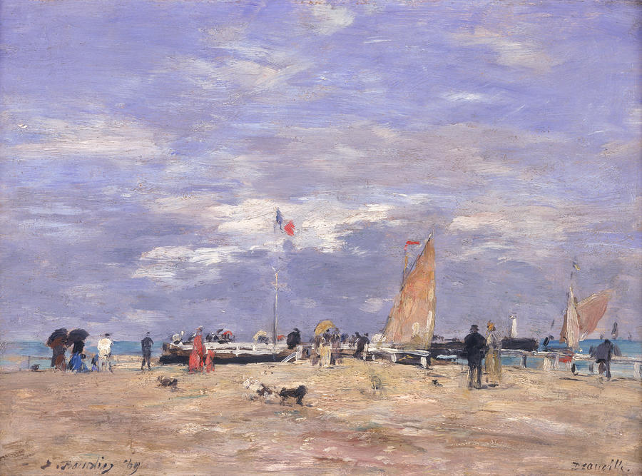 The Jetty At Deauville Painting  - The Jetty At Deauville Fine Art Print