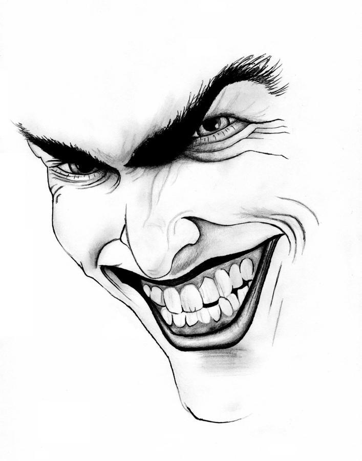 Joker Scribble Drawing : The gallery for gt evil joker drawings in pencil