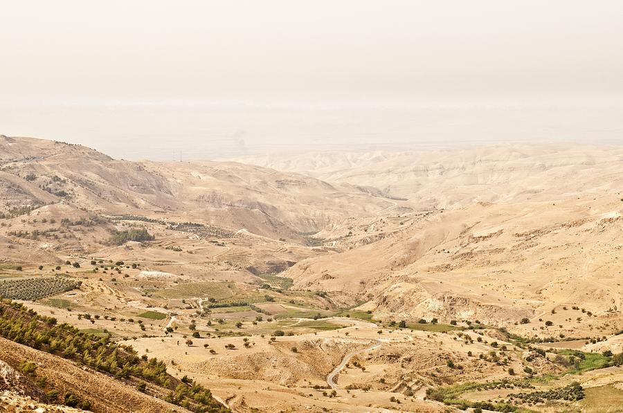 Horizontal Photograph - The Jordan Valley, Jordan by Jim Foley