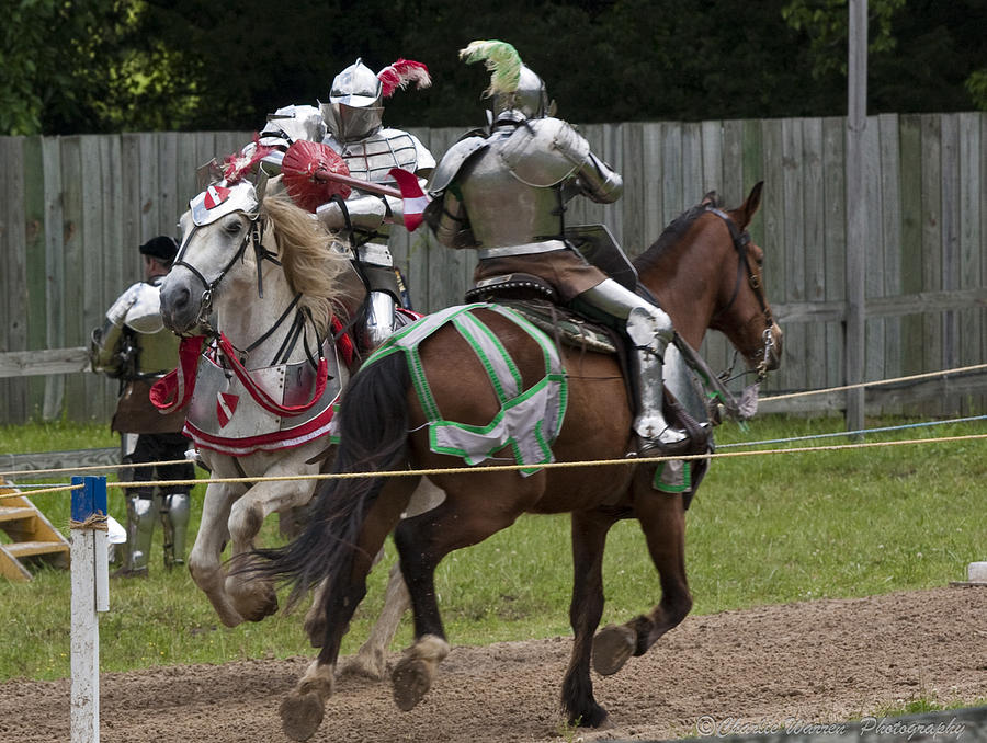 Medeival Photograph - The Joust I by Charles Warren