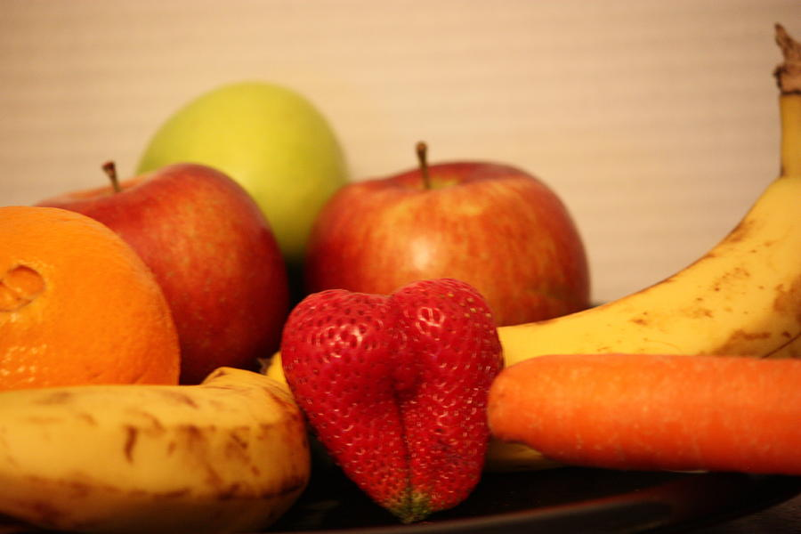 The Joy Of Fruit At Bedtime Photograph