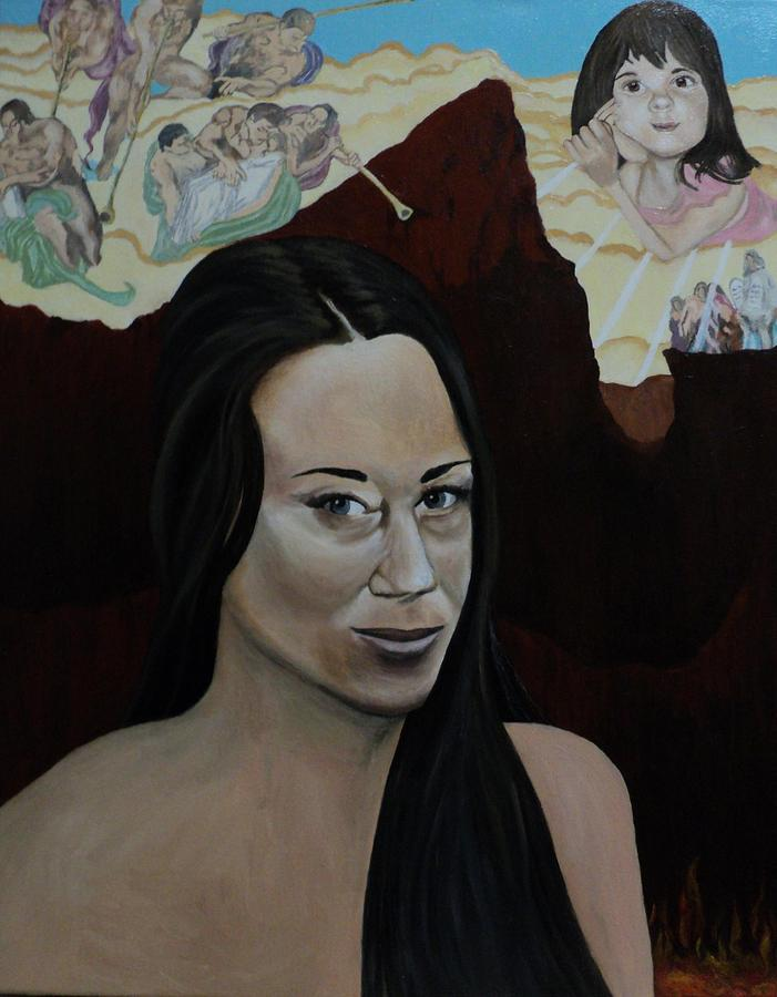 The Judgment Of Casey Anthony The Sacrifice Of Caylee Anthony Painting  - The Judgment Of Casey Anthony The Sacrifice Of Caylee Anthony Fine Art Print