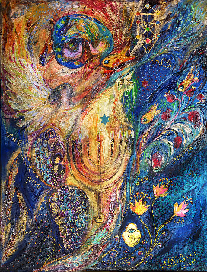 The Keeper Of Menorah Painting