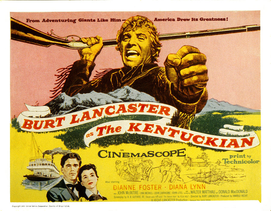 The Kentuckian, Burt Lancaster, 1955 Photograph