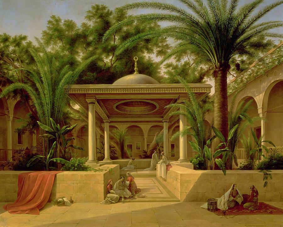 The Khabanija Fountain In Cairo Painting