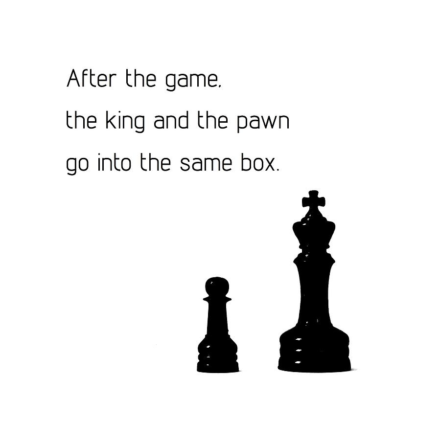The King And The Pawn Photograph