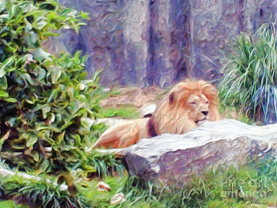 The King At Rest Painting
