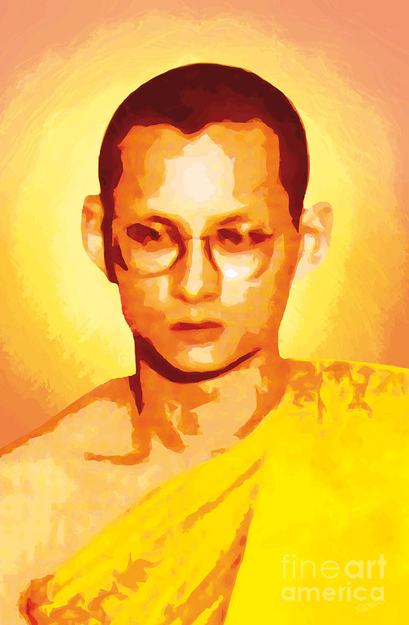 The King Of Thailand Priesthood Painting  - The King Of Thailand Priesthood Fine Art Print
