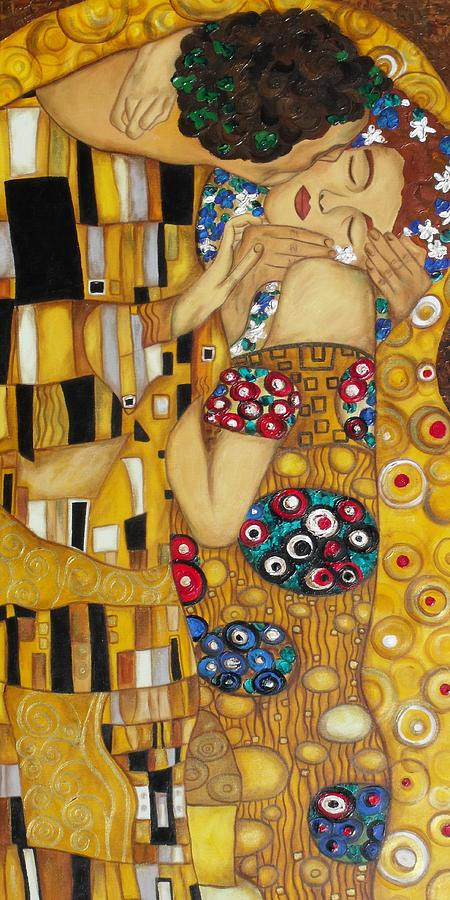 The Kiss After Gustav Klimt Painting