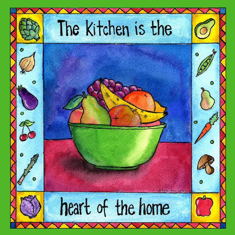 Kitchen Art America Inc: The Kitchen Is The Heart Of The Home Painting By Pamela Corwin