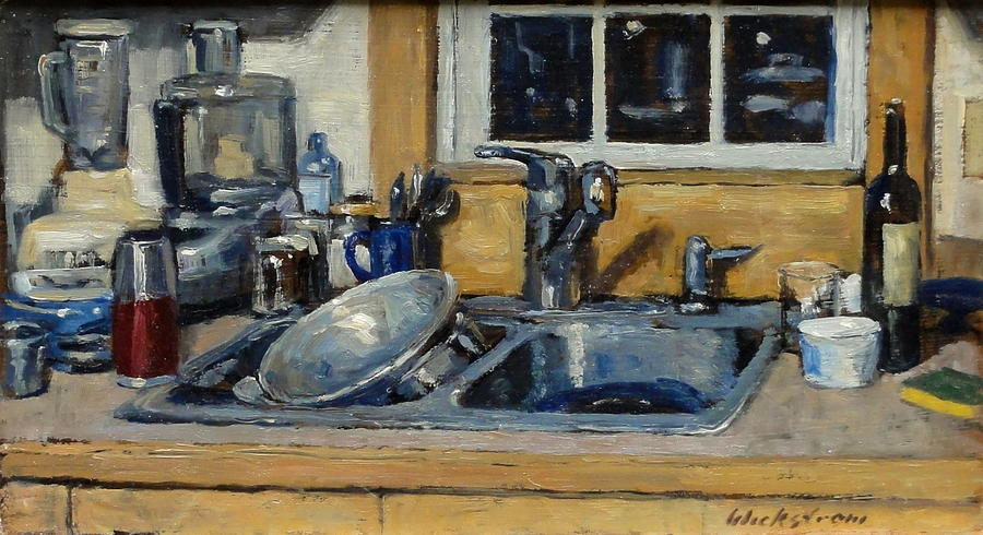 The Kitchen Sink Painting  - The Kitchen Sink Fine Art Print