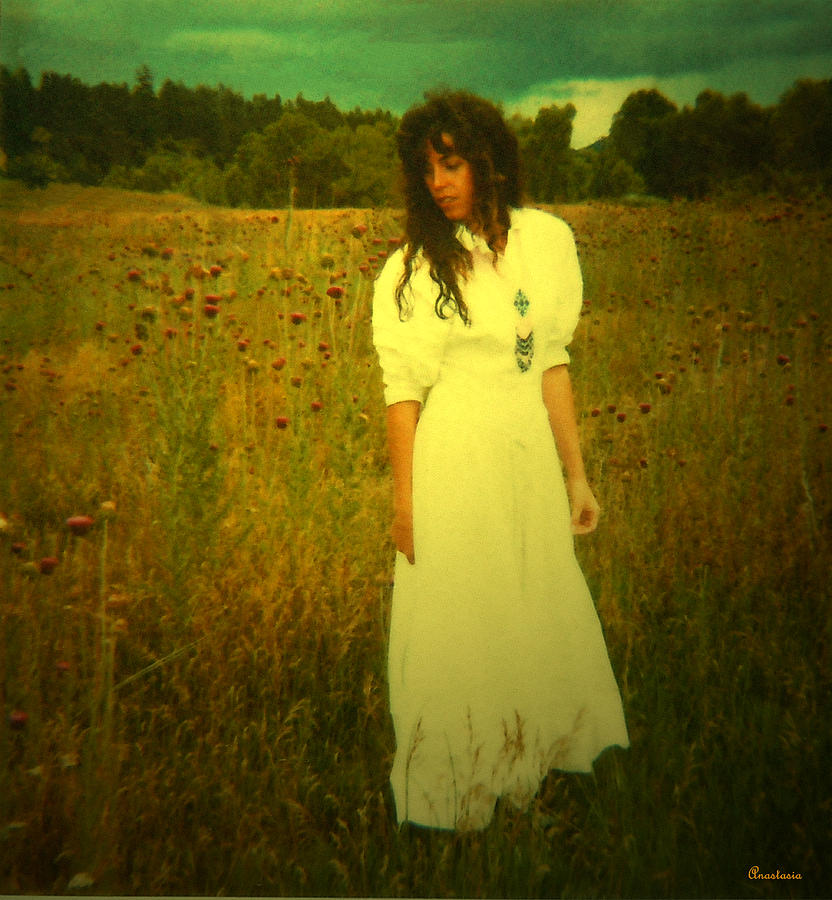 The lady in the thistles blanco river meadow memories photograph