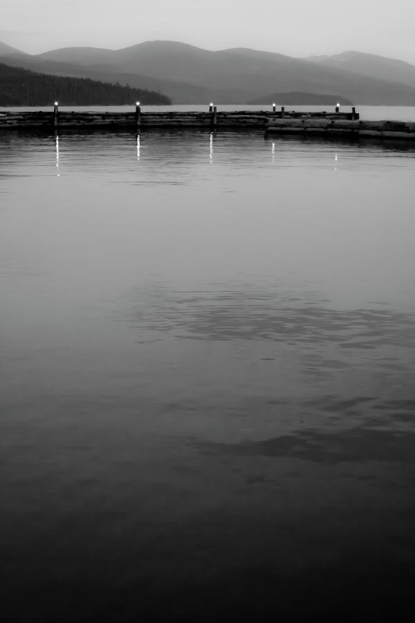 Black And Whites Photograph - The Lake At Dusk by David Patterson