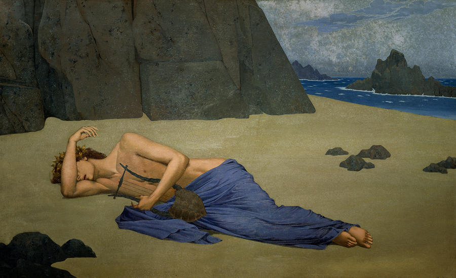 The Lamentation Of Orpheus Painting