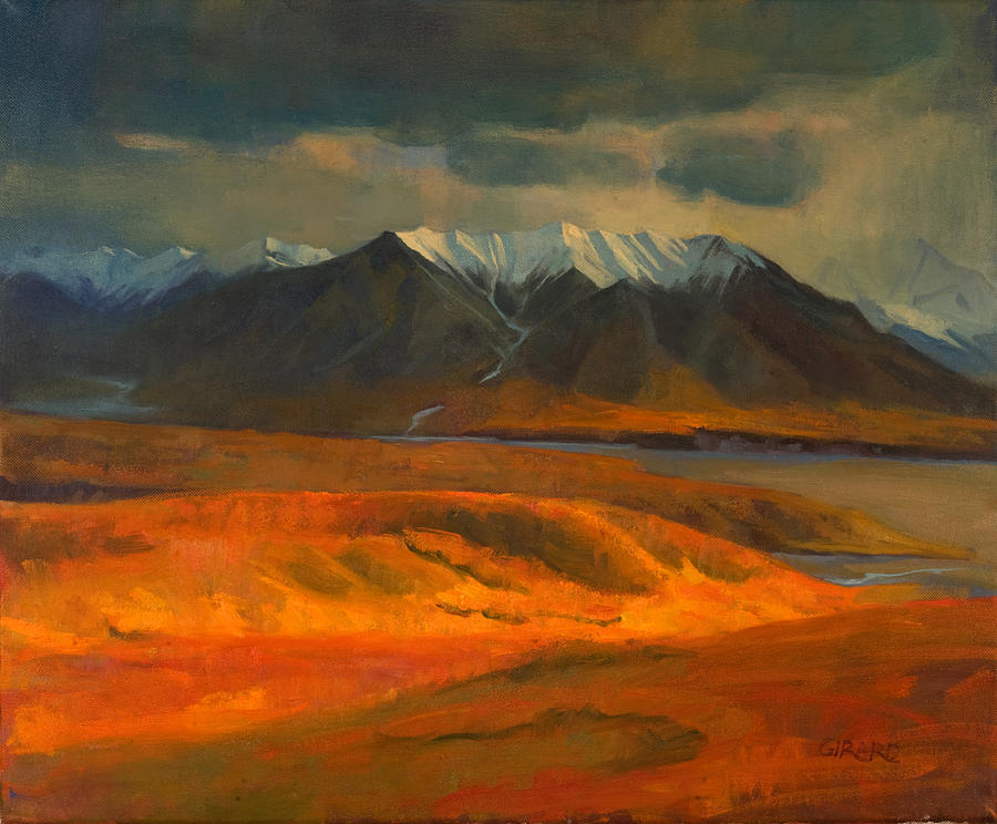 The Land Beyond The Red Tundra Painting