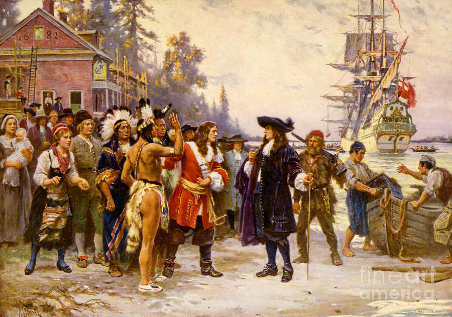 The Landing Of William Penn, 1682 Photograph