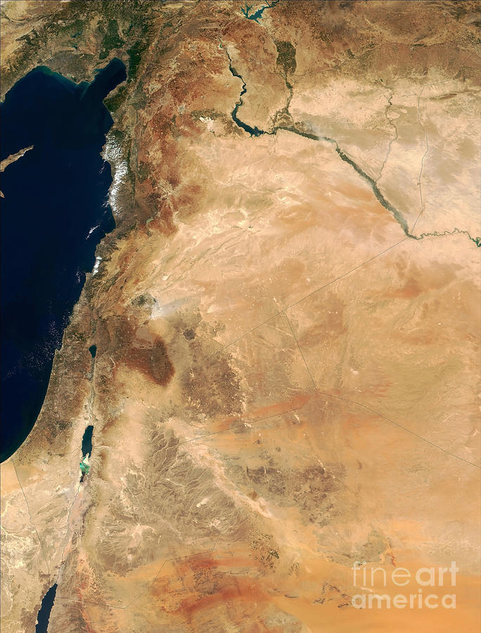 The Lands Of Israel Along The Eastern Photograph