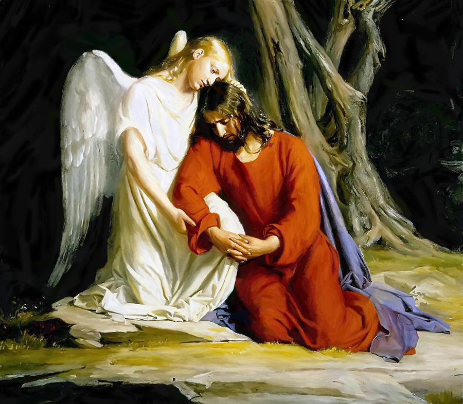 The Last Night Of Jesus In The Garden Gethsemane Painting
