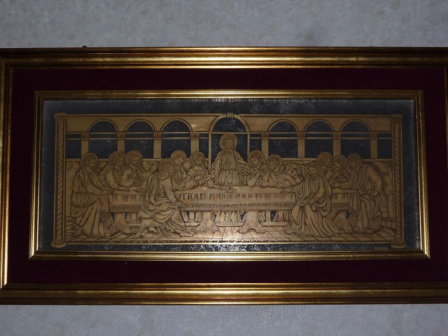 Religious Bible Plot Glass Art - The Last Supper  by BRUBER Bruno Bertoldini