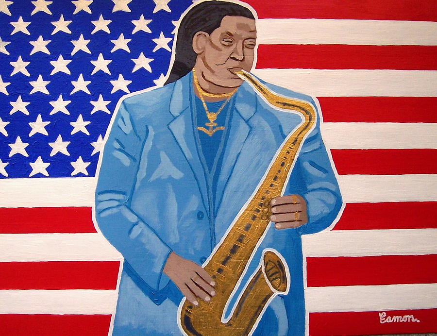 The Late Great Clarence Clemons Painting