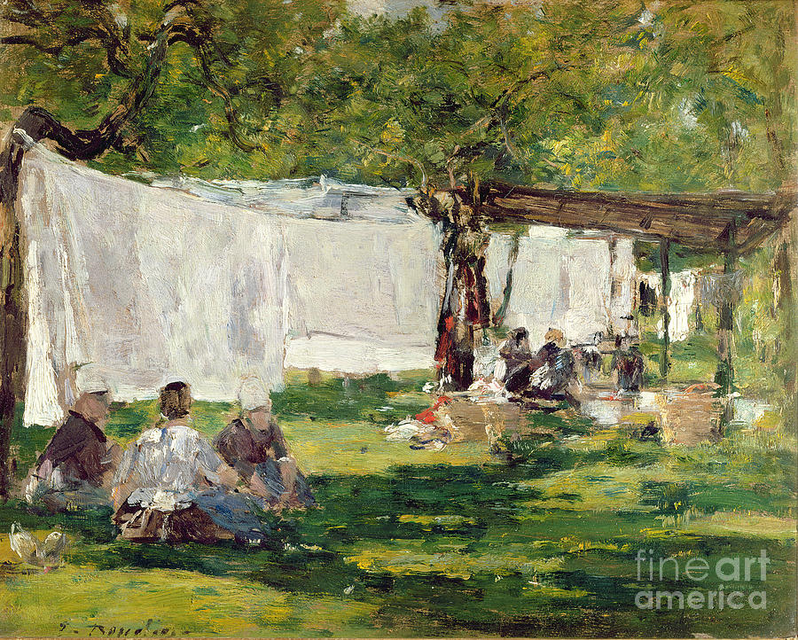 The Laundry At Collise St. Simeon  Painting