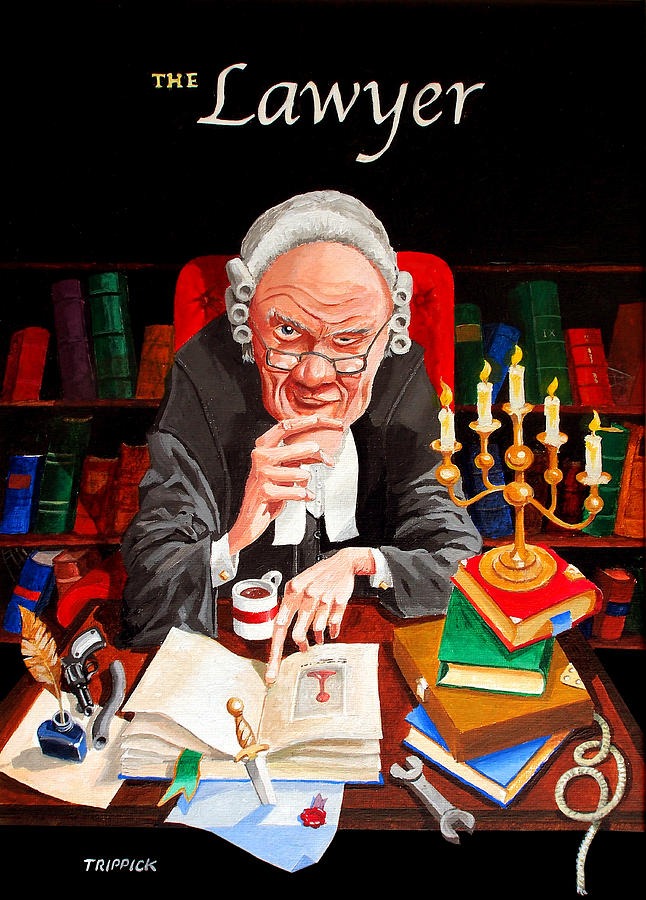 The Lawyer Painting  - The Lawyer Fine Art Print