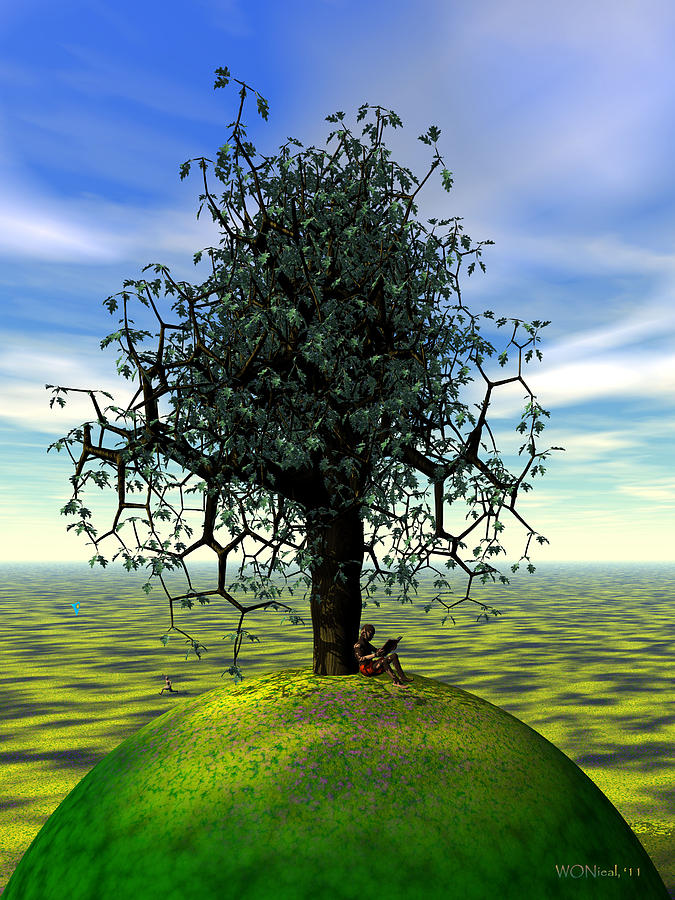 The Learning Tree Digital Art  - The Learning Tree Fine Art Print