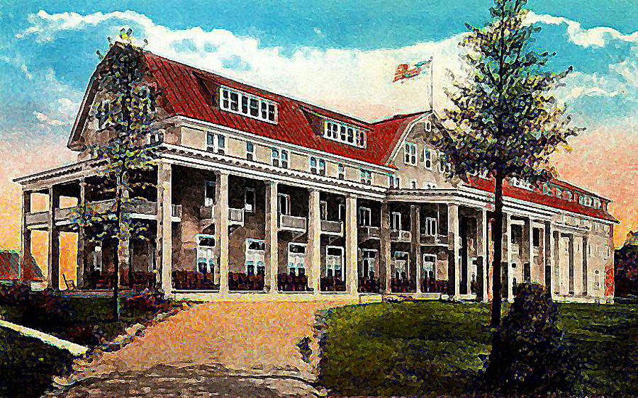 The leland house hotel in schroon lake n y in 1910 for Leland house