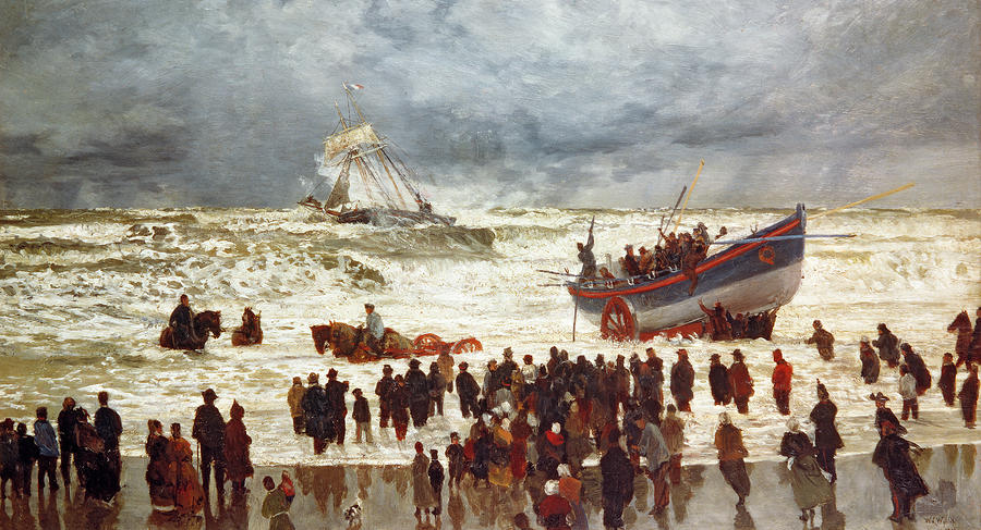 The Lifeboat Painting  - The Lifeboat Fine Art Print