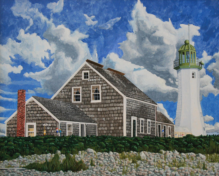 The Light Keepers House Painting  - The Light Keepers House Fine Art Print