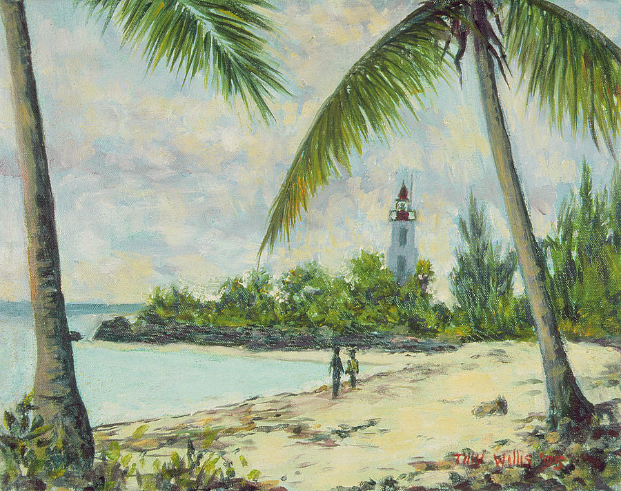 The Lighthouse - Zanzibar Painting  - The Lighthouse - Zanzibar Fine Art Print