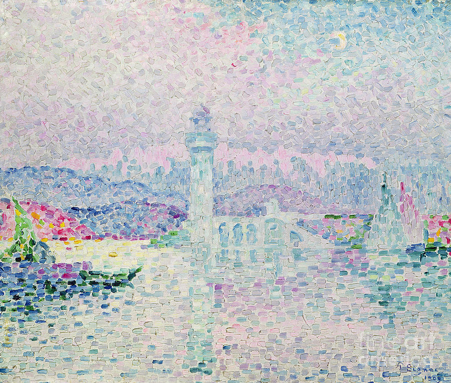 The Lighthouse At Antibes Painting