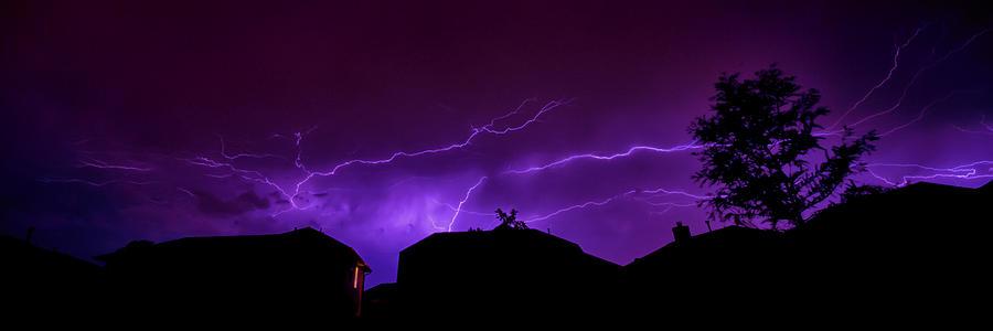 Lightning Photograph - The Lightning Over Avery Neighborhood by Lisa  Spencer