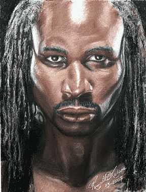 The Lion - Lennox Lewis Painting
