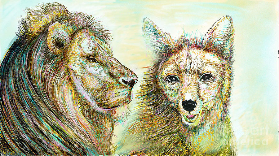 The Lion And The Fox 3 - To Face How Real Of Faith Painting