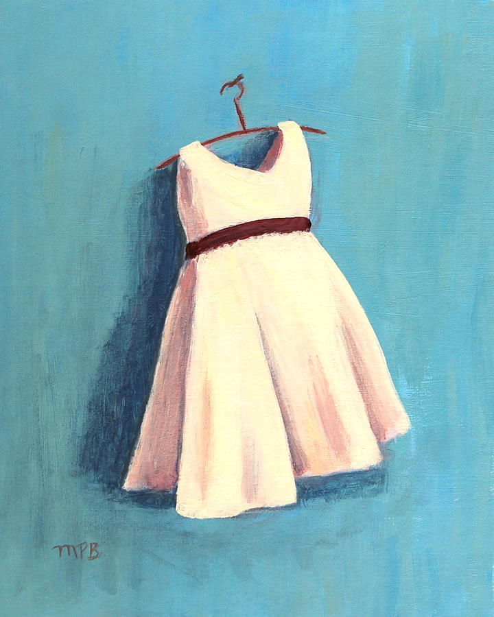 The Little Dress Painting  - The Little Dress Fine Art Print